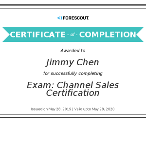 ForeScout_Channel Sales Certification(Jimmy Chen)20190528