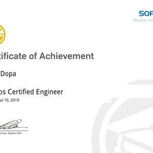 Sophos Certified Engineer_Dopa Yang