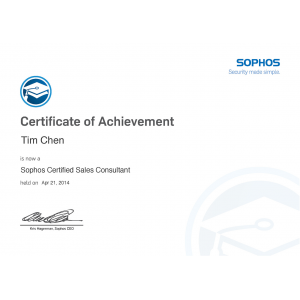 Sophos-Certified-Sales-Consultant