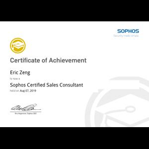Sophos-Certified-Sales-Consultant-Eric-Zeng