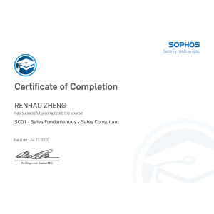 SC01 - Certificate of Completion