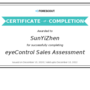 Forescout-eyeControl Sales Assessment-Kevin
