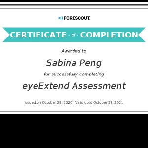 Forescout-eyeExtend Assessment_Certificate