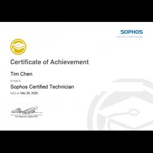 Sophos Certified Technician_Tim Chen