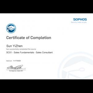 Sophos-Sales Fundamentals Sales Consultant-Kevin