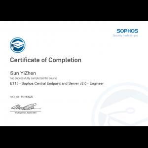 Sophos-Sophos Central Endpoint and Server v2.0 Engineer-Kevin
