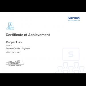 Sophos-Sophos Certified Engineer-Cooper