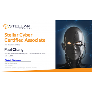 Stellar Cyber Certified Associate_Paul Chang